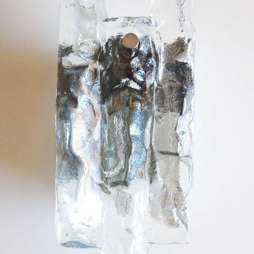 "Aplique de pared ""Ice-glass"". J. T. Kalmar , Austria, Vintage años 60."