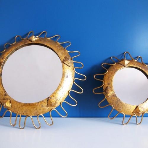 Constelación de espejos sol. Vintage años 60.