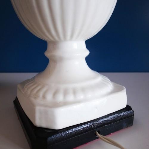 Lámpara vintage de cerámica de Manises, C. Hispania. Vintage años 50s-60s.