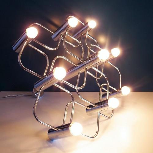Lámpara de techo diseñada por Gaetano Sciolari para Boulanger, vintage 60s-70s.