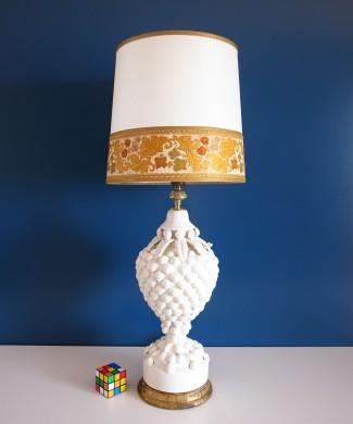 Lámpara de cerámica de Manises, Bondía, años 50s-60s.