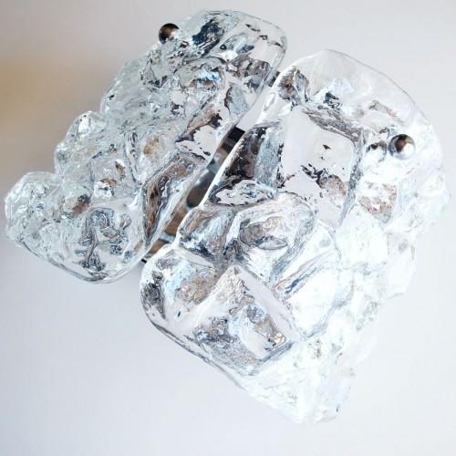 Aplique de cristal Ice-glass, por Kalmar (atrib.) Vintage 60s-70s.