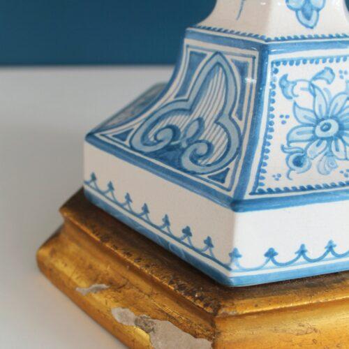 Lámpara de cerámica de Manises. Casés. Vintage 50s-60s.
