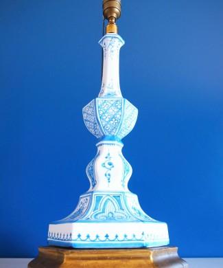 Lámpara vintage de cerámica de Manises. Casés. Mid century vintage 50s-60s.