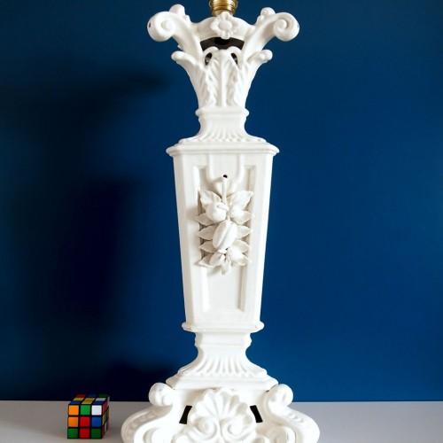 Gran lámpara de cerámica de Manises, Cerámicas Hispania. Vintage 50s-60s.