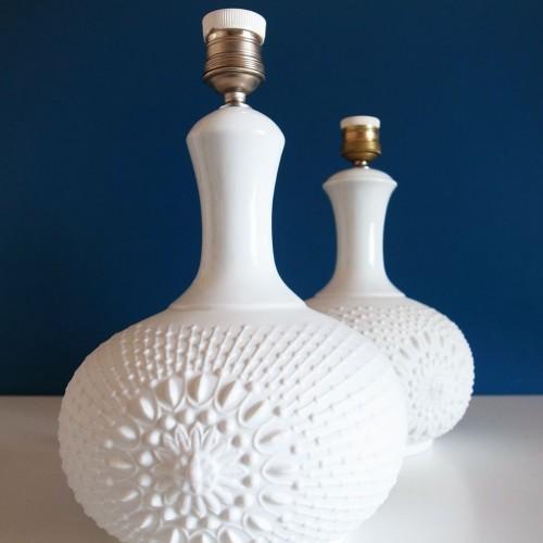 Pareja de lámparas de porcelana alemana Krautheim, Bavaria. Vintage 60s.