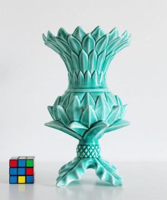 Original jarrón de cerámica de Manises (Valencia), vintage original de los años 50s-60s.