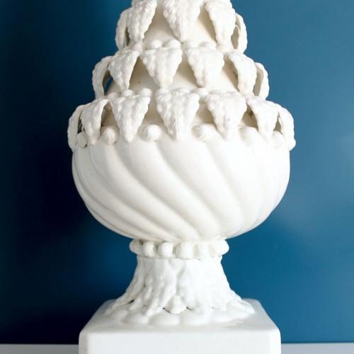 Excelente lámpara de cerámica de Manises, vintage años 50s-60s.