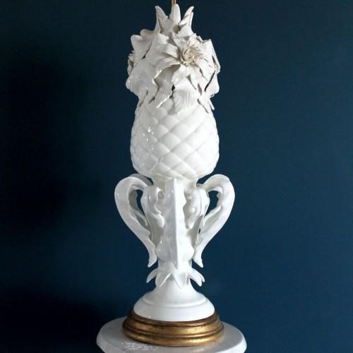 Espectacular lámpara de cerámica de Manises, vintage años 50s-60s.