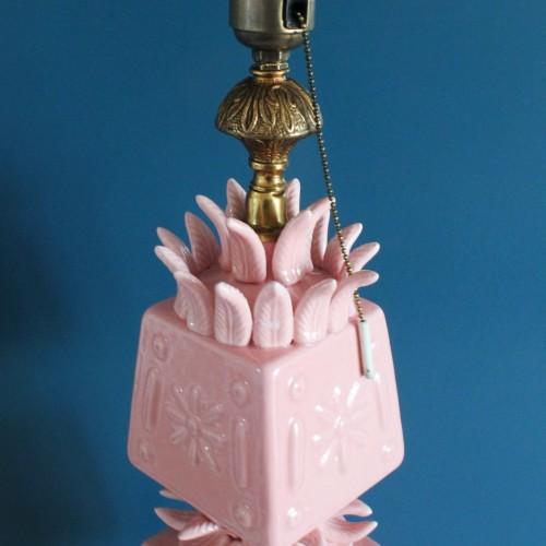 Gran lámpara de cerámica de Manises, vintage años 50s-60s.