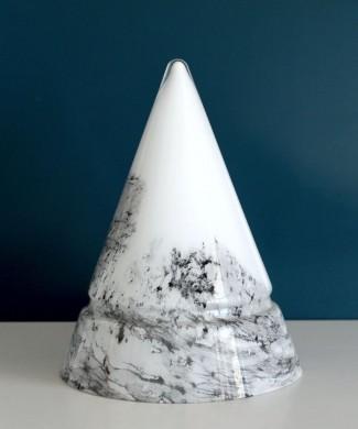 Lámpara cono de cristal de Murano, vintage 80s, Toso - Pamio - Leucos.