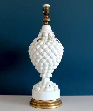 Espectacular lámpara vintage de cerámica de Manises, Bondía. Vintage 50s-60s.
