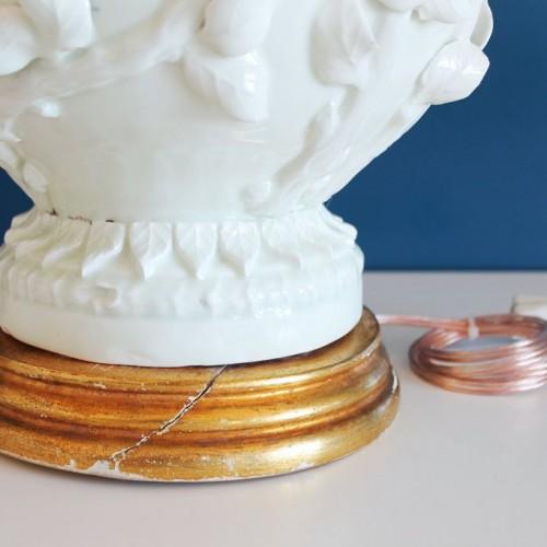 Gran lámpara vintage de cerámica de Manises, años 50-60.