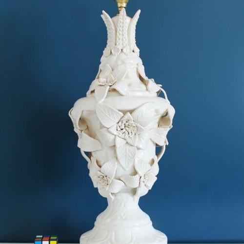 Gran lámpara vintage de cerámica de Manises (Valencia) Cerámicas Bondía, años 50-60.