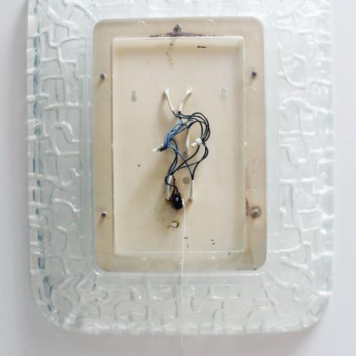 HILLEBRAND - Espejo retroiluminado, en resina. Vintage años 70s.