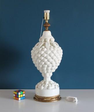 Espectacular lámpara de cerámica de Manises, Bondía. Vintage 50s-60s.