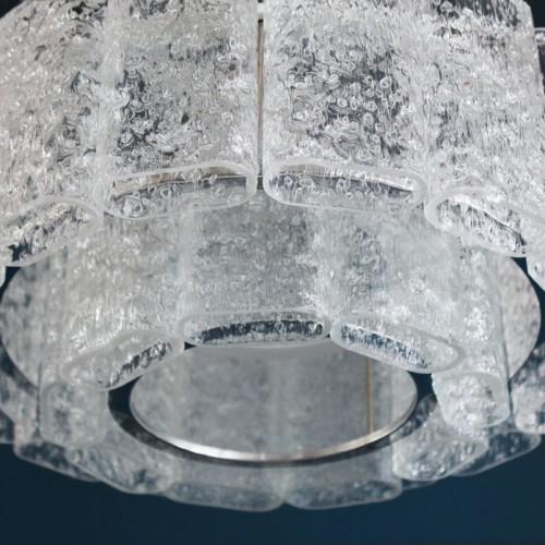 Lámpara chandelier de techo Doria Leuchten, Alemania, vintage años 60s.