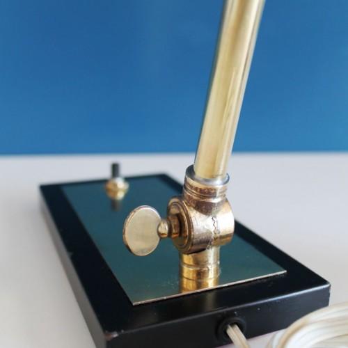 Lámpara de despacho en latón dorado, vintage años 30s-40s.