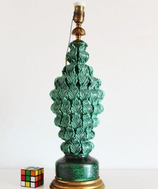 Gran lámpara de cerámica de Manises, Bondía. Vintage 50s-60s.