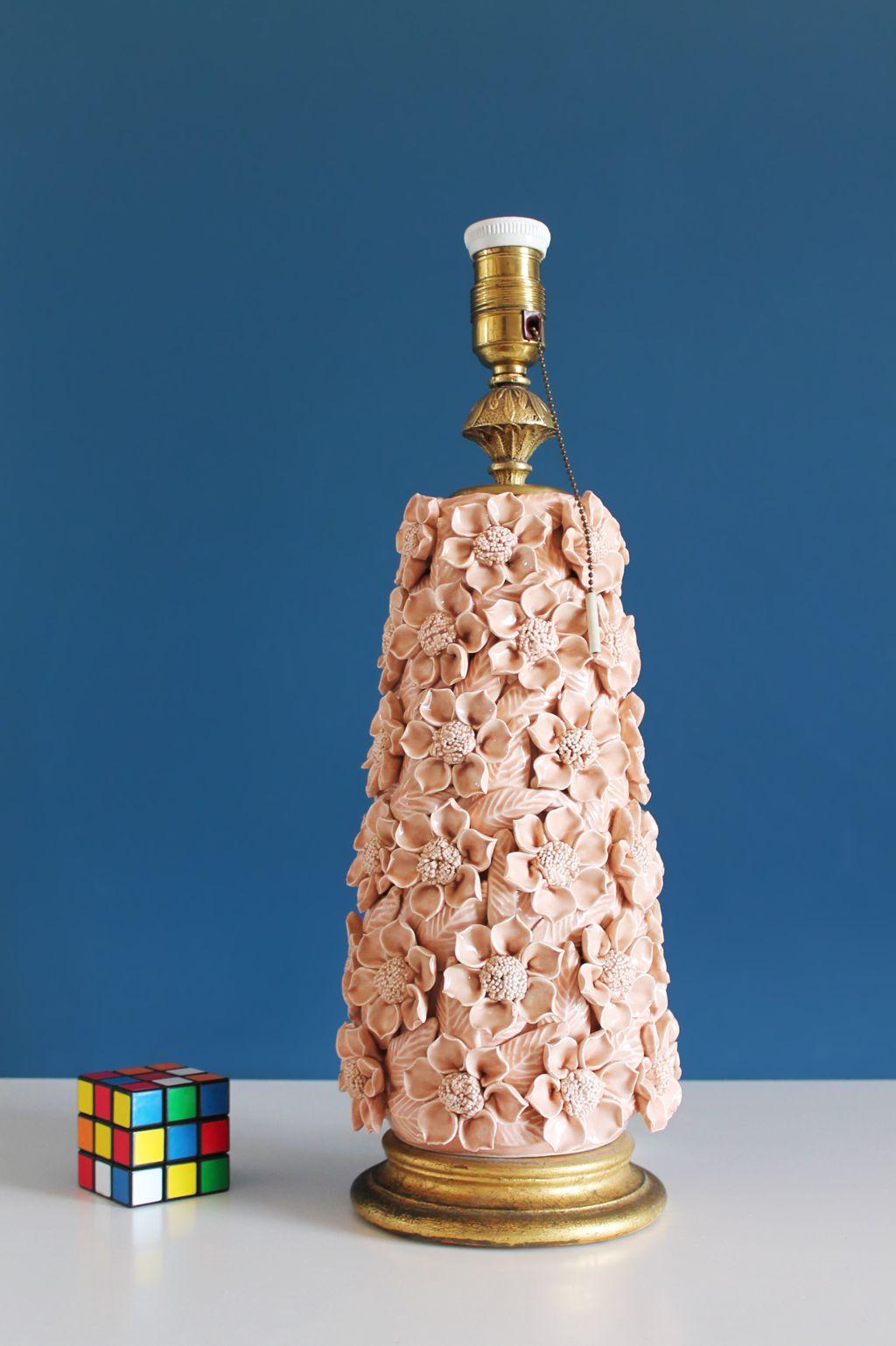 L mpara de cer mica de manises en color rosa p lido - Colores de ceramica ...