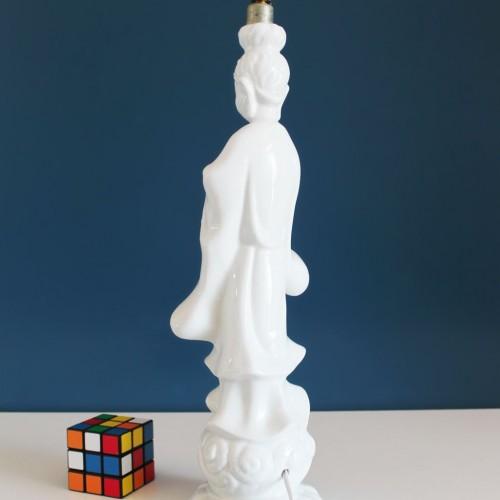 Lámpara de cerámica de Manises- figura oriental - vintage 50s-60s.