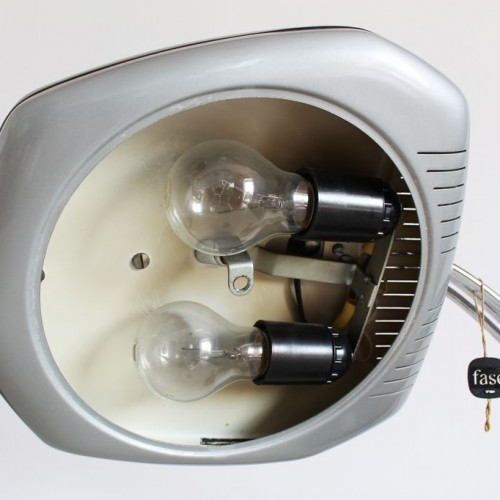 Lámpara de despacho FASE Falux, vintage 60s-70s. Impecable estado, con etiqueta original, ESPECIAL COLECCIONISTAS.