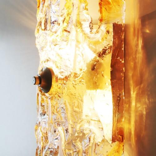 MAZZEGA - MURANO Aplique de pared de cristal de Murano, vintage años 60.