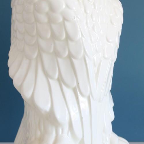 Búho paragüero de cerámica vintage.