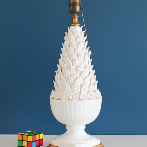 Lámpara vintage de cerámica de Manises. Vintage 50s-60s.