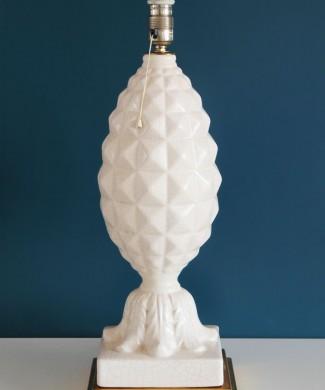 Excelente lámpara vintage de cerámica de Manises, piña, vintage años 50-60.