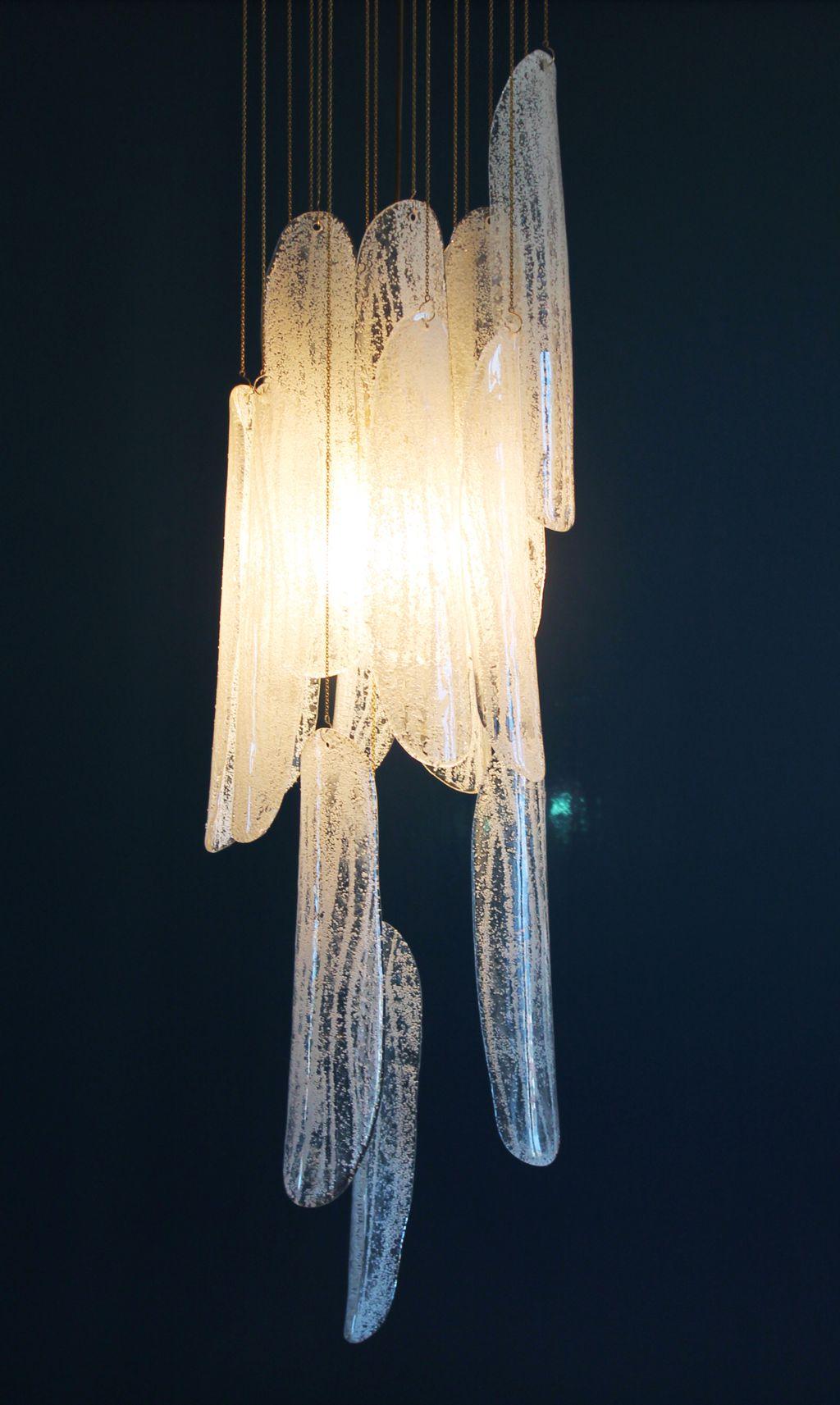 Espectacular l mpara chandelier de cristal de murano - Lamparas de cristal de murano ...