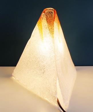 Lámpara volcán de cristal de Murano. Vintage años 60-70.