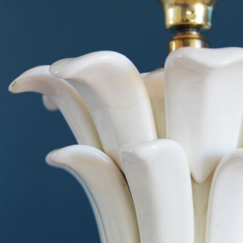 Excelente lámpara vintage de cerámica de Manises (Valencia), forma de piña, vintage años 50-60.