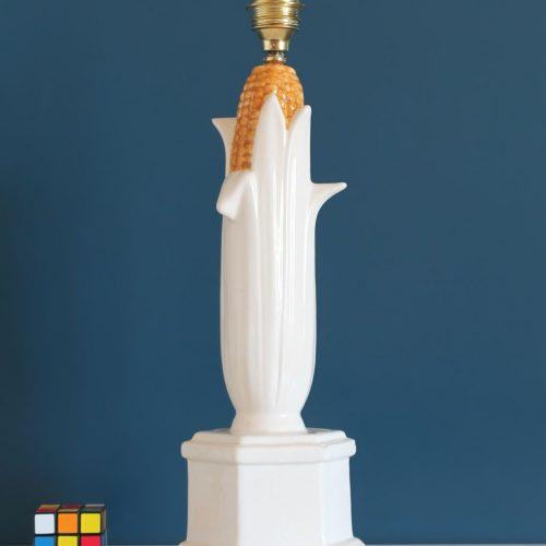 Mazorca de maíz. Original lámpara de cerámica de Manises, vintage años 60s.