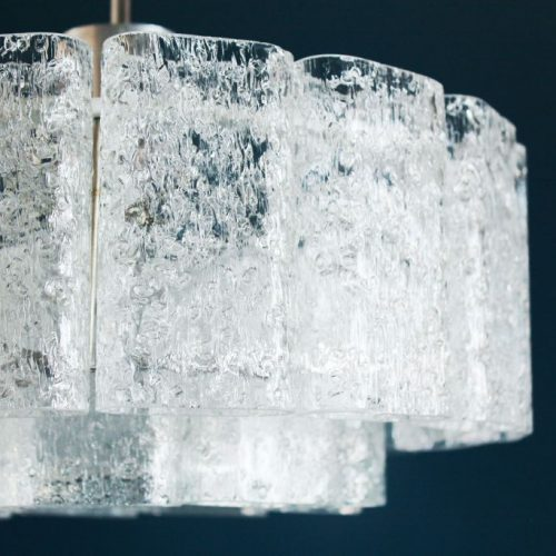 DORIA LEUCHTEN Lámpara chandelier de techo, vintage años 60s. PAREJA disponible.