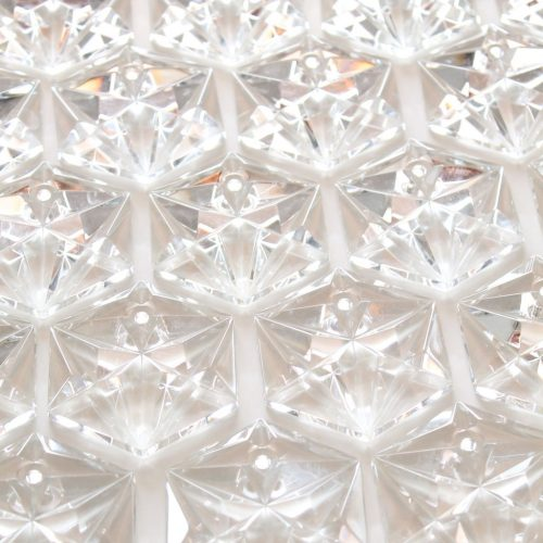 KINKELDEY LEUCHTEN (Alemania) - Gran lámpara de techo chandelier de cristal y acero, vintage años 70.