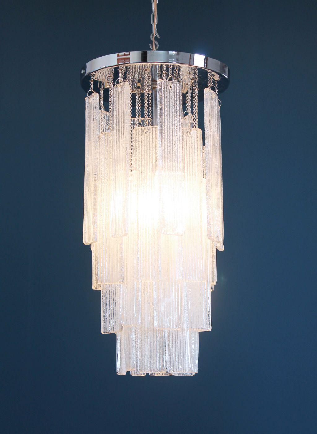 de atribuida techo Espectacular en Murano cristal de lámpara rQtCxshd