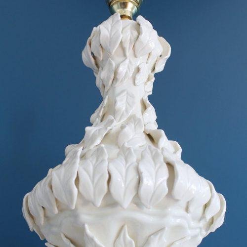 Excelente lámpara vintage de cerámica de Manises (Valencia), años 50-60.
