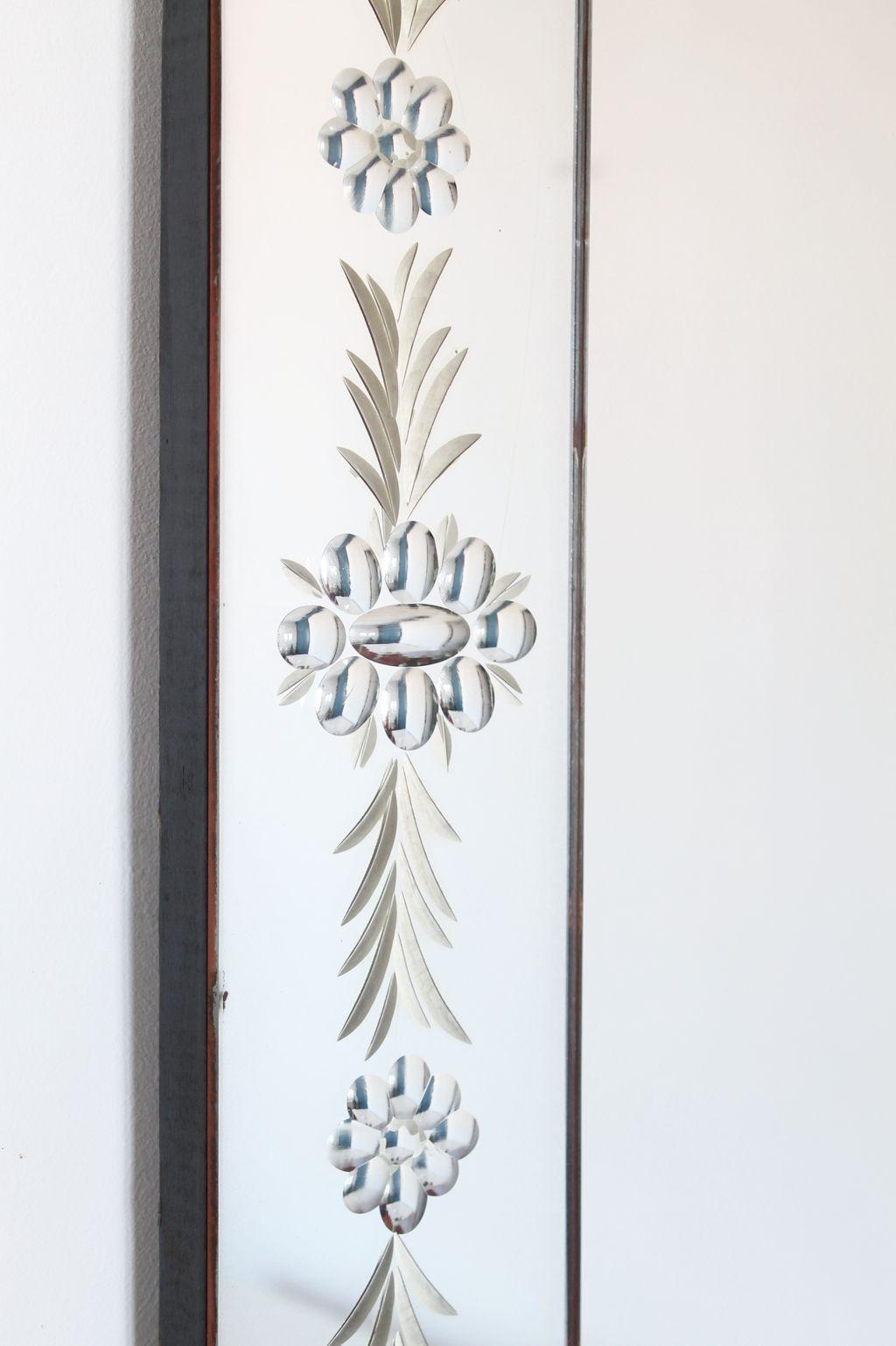 Gran espejo antiguo con marco de espejos tallados - Espejo veneciano antiguo ...