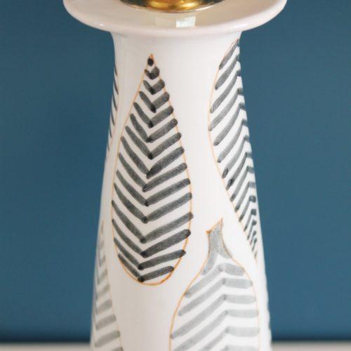 ERNESTINE VIRDEN-CANNON Salerno - Lámpara de cerámica pintada a mano, vintage 1950s.