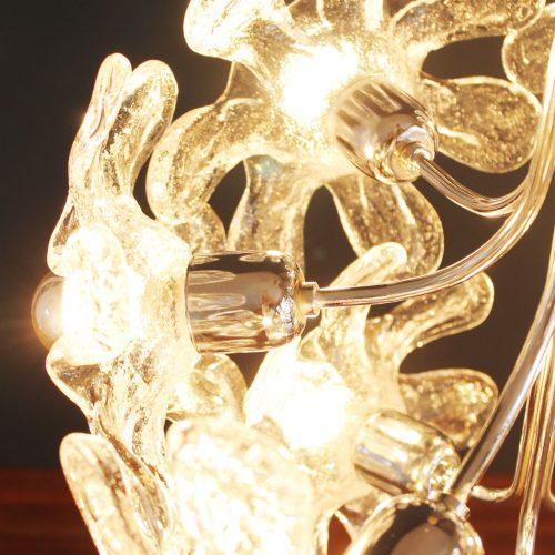 MAZZEGA MURANO - Espectacular lámpara chandelier de flores de cristal. Vintage 60s-70s.