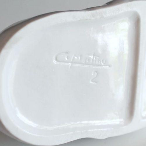 Pato de porcelana, de C. Martinu, vintage años 70s.
