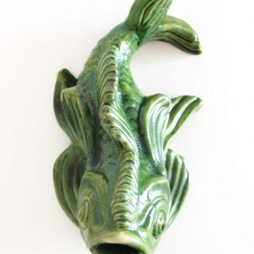 Pez de cerámica - embocadura de fuente o surtidor. Vintage 50s-60s.
