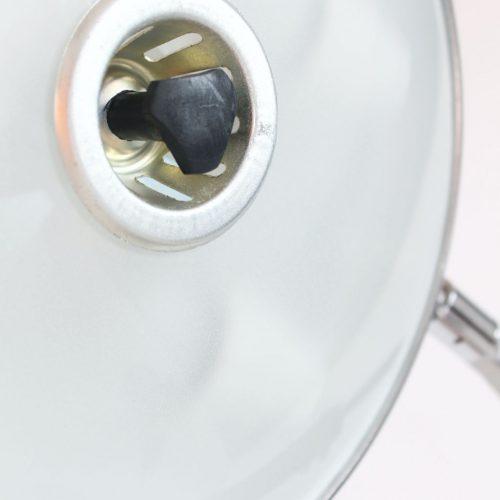 FASE PRESIDENT - Lámpara de despacho en acero y madera, vintage 60s-70s. Lacado negro. Excelente estado.