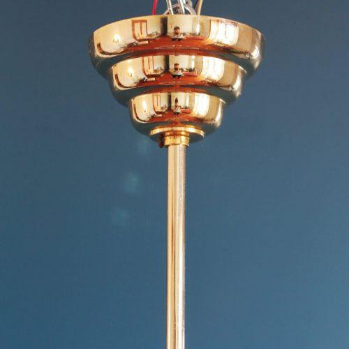 KINKELDEY LEUCHTEN, gran Lámpara de techo, vintage años 70s.