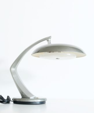 FASE BOOMERANG - Lámpara vintage de despacho, lacado gris, vintage años 60.