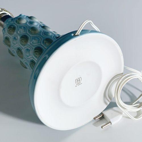 LLADRÓ - NAO Lámpara de porcelana , modelo antiguo descatalogado, en color azul. Vintage años 70s.
