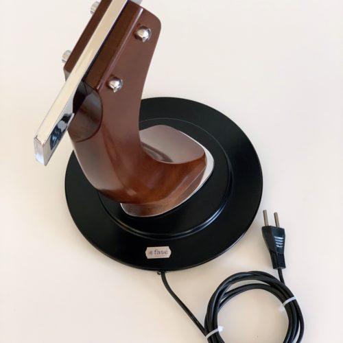 FASE PRESIDENT - Especial Coleccionistas - Lámpara de despacho en acero y madera, vintage 60s-70s. Lacado negro. Excelente estado.