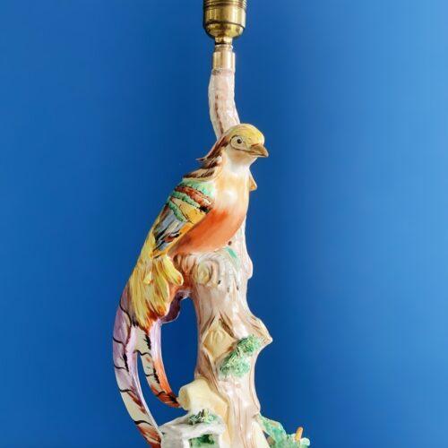AVE DEL PARAÍSO - Lámpara de cerámica de Manises-Franju. Vintage años 50s-60s.