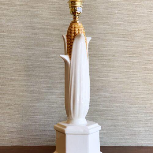 Mazorca de maíz. Original lámpara de cerámica de Manises, Bondía. Vintage años 60s.